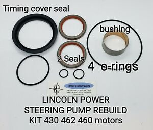 1960 - 1969 LINCOLN POWER STEERING KIT - TIMING COVER SEAL & BUSHING 430 460 462