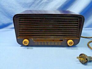 Vtg  PHILCO TRANSITONE Model 50-520 Table Top AM Radio - 4 Parts/Repair