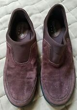 COVINGTON WOMEN'S SHOES DARK BROWN LEATHER/FABRIC UPPER SLIP-ON SIZE 6M