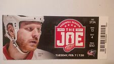 DETROIT RED WINGS VS COLUMBUS BLUE JACKETS FEB 7/17 STEVE OTT TICKET STUB
