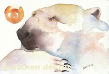 THROUGH THEIR EYES watercolor greeting card polar bear spirit totem  blank