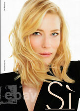 Cate Blanchett 2-pg clipping 2015 ad for Si by Giorgio Armani #238