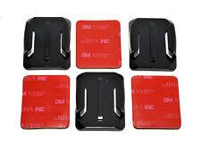 3x casco curvo montajes de base con Almohadillas Adhesivas 3 M compatible con las cámaras GoPro