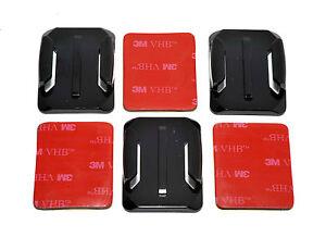 3x Courbé Casque Base Supports Avec 3M Adhésif Patins Compatible Caméras GOPRO