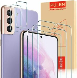 PULEN Tempered Glass 3x Screen & 2x Camera Protectors For Samsung Galaxy S21 5G