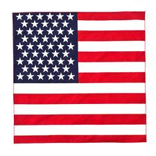"American Flag USA Flag Bandana Doo Do Rag 21"" x 21"" New Biker Cap Hat Head Wrap"