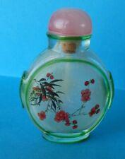 antique snuff bottle Pékin glas tabatière chinoise en verre de Pékin et overlay