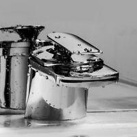 Waschtischarmatur Wasserhahn Wasserfall Mischbatterie Badarmatur Waschbecken