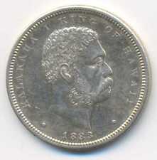 Hawaii Kingdom Silver 1/2 Half Dollar (HAPALUA) 50c 1883 aXF