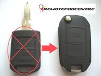 2 Botón PLEGABLE LLAVE FUNDA Mejora Para Opel Corsa C Conjunto MERIVA MANDO