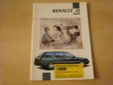50600) Renault R21 Nevada Prospekt 07/1991