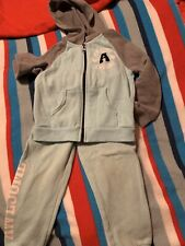 Healthtex Girls Toddler clothing 3T Greenish/Grey sweat outfit Awesome