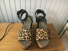 NWOB Flogg Leopard Wedge Shoes 5 1/2