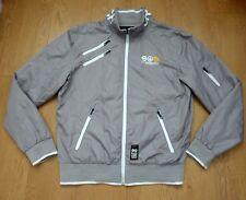 Crosshatch Black Label 55 Men's Grey Wind Cheater Jacket Size XL