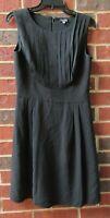 Giorgio Armani Black Silk Sheath Career Dress Sz.42/US 6/8
