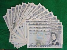 Gill £ 5 Wellington Bleu Cinq Pound Billet (publié 1988-1991) EF + B353