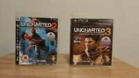 Uncharted 2 + 3 - 2 Game Bundle (Sony Playstation 3, PS3)