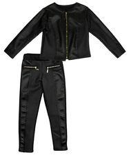 Tenues et ensembles noirs en polyester pour fille de 2 à 16 ans