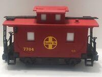 G Scale Lionel Train Santa Fe 7704 Red Caboose