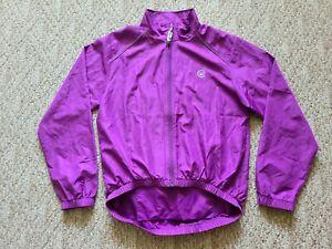 EUC Canari Women's Cycling Jacket Rain Windbreaker Color Purple Size Large L