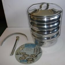 Vtg Buckeye Ware Picnic Pack Cook Carry Serve 4 Utility Pans Skillet Aluminum