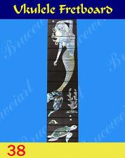 Free Shipping, Ukulele Part - Slotted Rosewood Fretboard w/ Mop Inlay (38-S)
