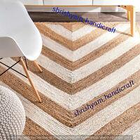 Natural Braided Bohemian 3x4 Feet Jute Rectangle Rug Home Decor Floor Carpet Mat