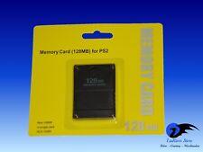 128 Mb Memory Card für Sony Playstation 2 Ps2 Speicherkarte Memorycard NEU