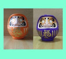 Une paire de petit Poupée Daruma Orange & Violet du Takasaki-modèle