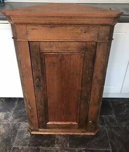 Vintage Wooden Corner Cupboard