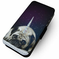Unipug -Faux Leather Flip Phone Cover Case- Cute Sparkles Glitter Dog Design
