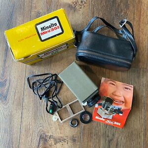 Vintage Minolta Mini 35 II M Slide Projector in Box Instructions Case