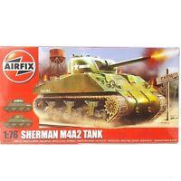 AirFix Sherman M4A2 Tank 1:76 Plastic Scale Model Kit A01303 WWII U.S. Army NIB