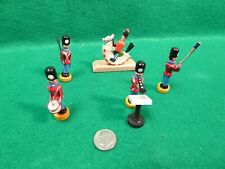 """PAINTED WOOD TOY SOLDIERS BAND 2"""" TALL"""
