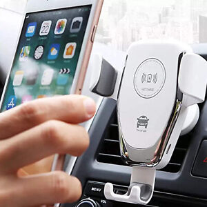 IN Car 10W Qi Wireless Car Charger+Phone Holder For Apple iPhone 11 12 Pro Max