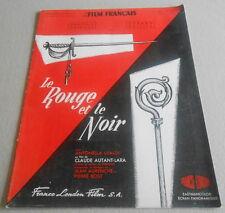 LE FILM FRANCAIS N°520 de 1954 ..En couverture Film LE ROUGE ET LE NOIR