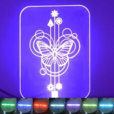 Butterfly Decorative Rectangle Colour Changing LED Acrylic Light