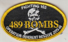 VFA-103 JOLLY ROGERS 489 BOMBS OIR 2015-2016 OVAL SHOULDER PATCH
