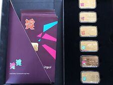 2012 London Olympics Games Commemorative 6 Gold-plated Proof Ingot Set