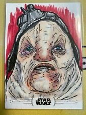 2020 Topps Chrome Star Wars Perspectives Allen Grimes Sketch #1/1