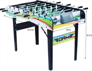 2-in-1 Foldable Game Football Table & Pool Home Gaming Kids 4FT Indoor Sports