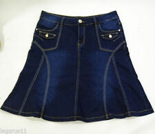 Denim Short/Mini Casual Plus Size Skirts for Women