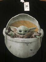 Star Wars The Mandalorian, The Child, Baby Yoda Black T- Shirt. Size: Medium