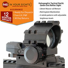 Holographic red & green dot reflex sight / Weaver rail tactical rifle scope