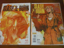 Slash and Burn 1 2 3 4 5 6 NM Lotay Vertigo Firefighter Arsonist Detective Story