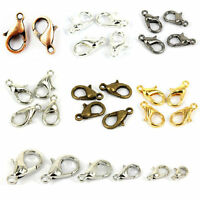50/100Pcs Jewelry Findings 10/12MM Gold/Silver Plated Lobster Claw Clasps Hooks