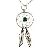 """Sterling Silver Dreamcatcher Pendant Necklace with 18"""" Chain & Gift Box"""