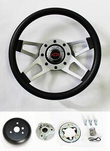 "Chevy Truck C / K Blazer Grant Black 4 Spoke Steering Wheel 13 1/2"" Red/Black"