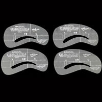 Set Of 4 Eyebrow Eye Brow Shaping Stencils A1-A4 & C1-C4 Grooming Kit Reusable