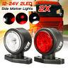 2pcs LED Side Marker Outline Light Indicator Truck Trailer Van Caravan Camper
